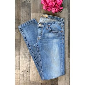 BIG STAR Casey K Skinny Low Distressed Jeans 30